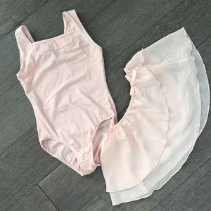 Ballet dance leotard and skirt set 6/6x